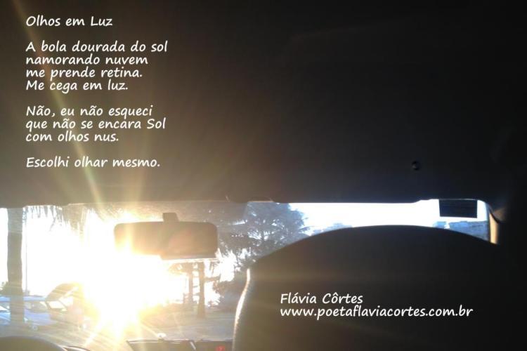 Olhos em Luz - texto de Flávia Côrtes